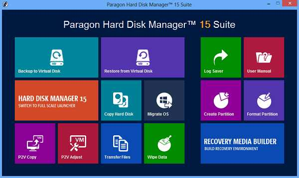Paragon Hard Disk Manager 16.23.1 with Crack + WinPE Edition